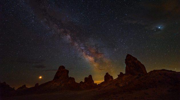Milky Way Over Trona Pinnacles